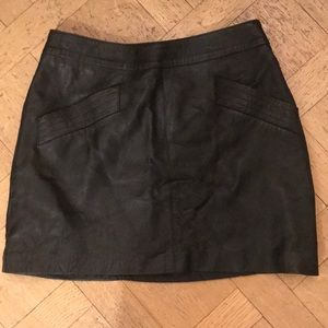 Zara leather mini skirt